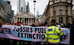 Extinction Rebellion protest climate change in London