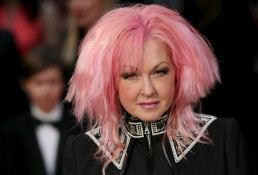 Cyndi Lauper at the Olivier Awards at the Royal Opera House in London