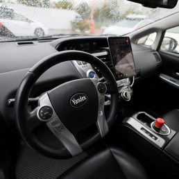 An interior view shows a self-driving car owned and tested by Yandex company during a presentation in Moscow, Russia August 16, 2019. REUTERS/Evgenia Novozhenina