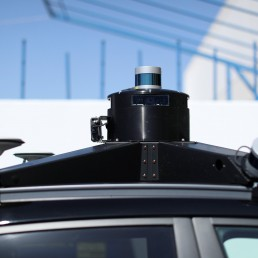 Lidar, cameras and GPS sensors are shown on top of a Hyundai electric vehicle as self driving company Pony.ai begins to provide autonomous electric vehicles to deliver packages from local e-commerce platform Yamibuy during the outbreak of the coronavirus disease (COVID-19) in Irvine, California, U.S., April 28, 2020. REUTERS/Mike Blake