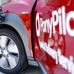 Radar sensors are shown own a Hyundai electric vehicle as self driving company Pony.ai begins to provide autonomous electric vehicles to deliver packages from local e-commerce platform Yamibuy during the outbreak of the coronavirus disease (COVID-19) in Irvine, California, U.S., April 28, 2020. REUTERS/Mike Blake