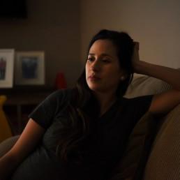 Pregnant nurse Samantha Salinas awaits the birth of her son amid a coronavirus disease (COVID-19) outbreak in San Antonio, Texas, U.S., May 6, 2020. REUTERS/Callaghan O'Hare