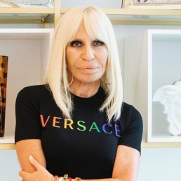Donatella Versace promotes Pride collection. Credit: Instagram - @donatellaversace. 15 Jun 2020. Reuters/WENN CPS**