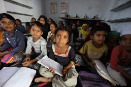 The beautiful and attentive Kalandar children were studying math. The school house and study materials were funded by generous Wildlife SOS donors. ©Wildlife SOS, 2020/Dana Wilson