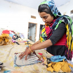 Vocational training and seed money for equipment is key to Wildlife SOS women's empowerment programs. ©Wildlife SOS, 2020/Dana Wilson