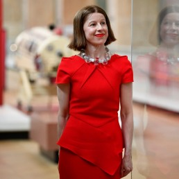 Science Museum Deputy Director Julia Knights poses for a portrait ahead of the reopening of the Science Museum, after lockdown restrictions were eased following the outbreak of the coronavirus disease (COVID-19), London, Britain, August 10, 2020. REUTERS/Toby Melville