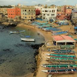 Boats sit along a port in Ngor, Dakar, Senegal, July 28, 2020. REUTERS/Zohra Bensemra
