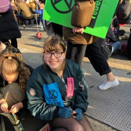 Teen climate activist Blue Sandford, author of the book
