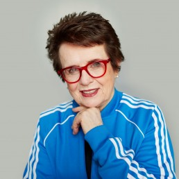 Billy Jean King poses in an undisclosed location, February 11, 2019. ITF Tennis/via REUTERS