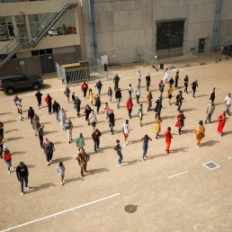 South African actors rehearse their