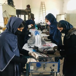 With bike chains and car parts Afghan girls build ventilators © Digital Citizen Fund