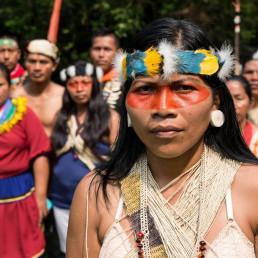 Nemonte Nenquimo, Waorani leader from the Ecuadorian Amazon. Photo Jerónimo Zúñiga / Amazon Frontlines