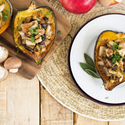 Flavourful Fungi The Year-Round Harvest Stuffed-Squash 1 Canada Mushrooms