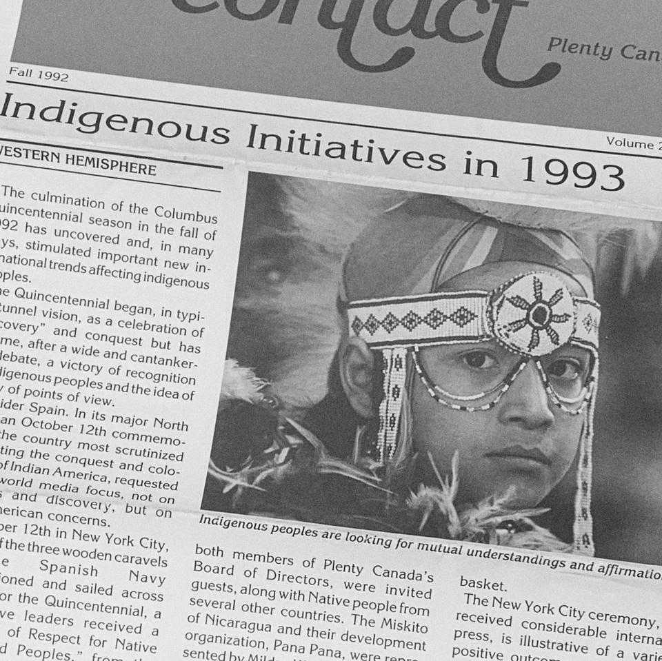 Fall 1992 Contact Plenty Canada newsletter