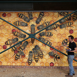 bees save the bees artists mural