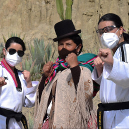 self defense indigenous women bolivia taekwondo