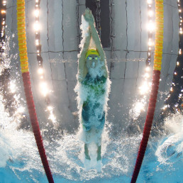 australia world record 100m freestyle olympics