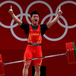 weightlifting world record olympics gold