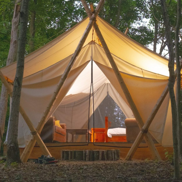 002GHN - Fall Glamping Tent