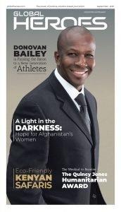 Global Heroes News Cover Donovan Bailey